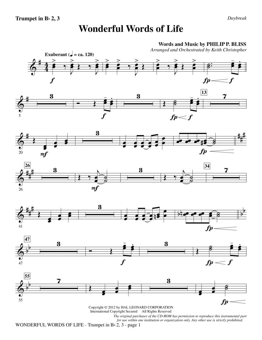 Wonderful Words of Life - Bb Trumpet 2,3