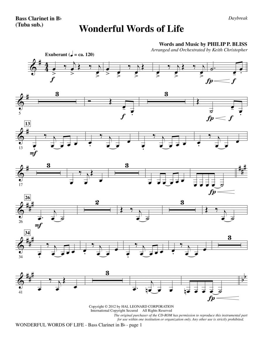Wonderful Words of Life - Bass Clarinet (sub. Tuba)