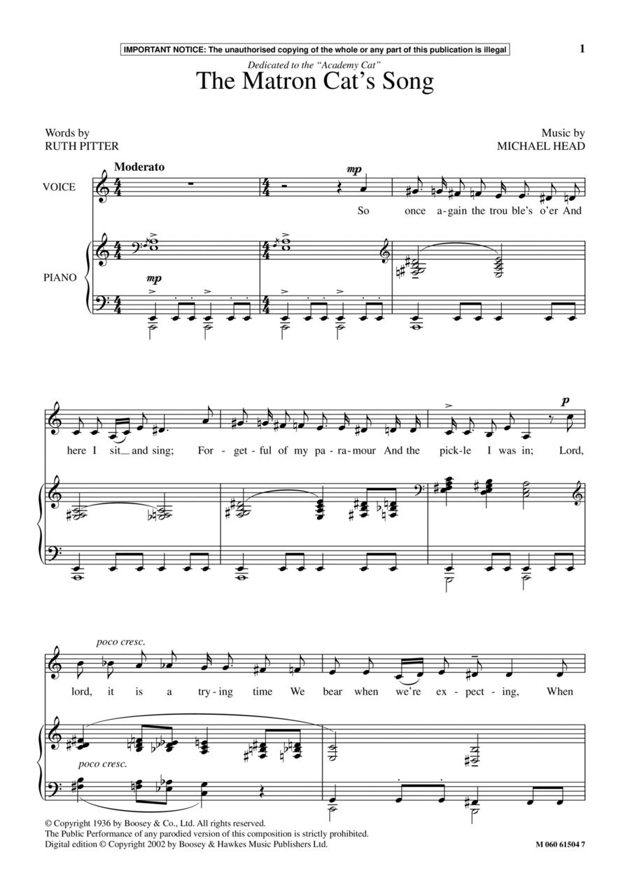 The Matron Cat's Song
