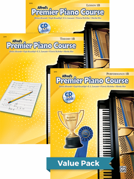 Premier Piano Course, Lesson, Theory & Performance 1B 2012 (Value Pack)
