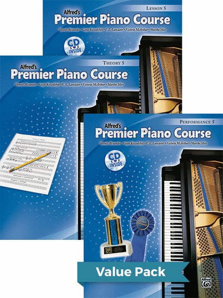 Premier Piano Course, Lesson, Theory & Performance 5 2012 (Value Pack)