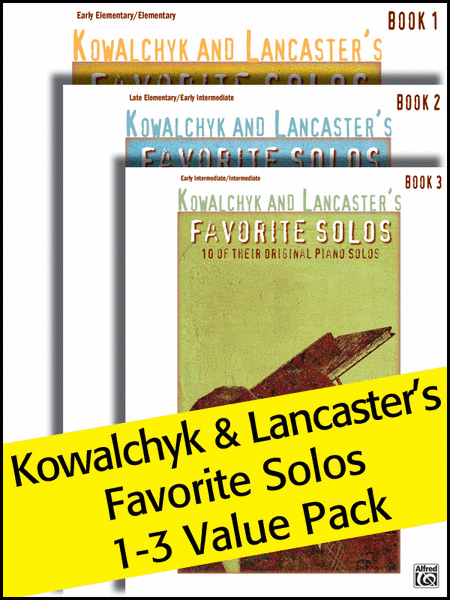 Kowalchyk and Lancaster's Favorite Solos Books 1-3 (Value Pack)