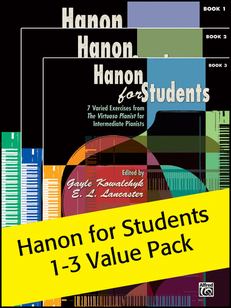 Hanon for Students Books 1-3 (Value Pack)