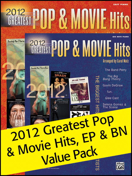 2012 Pop & Movie Hits Books EP & BN Value Pack