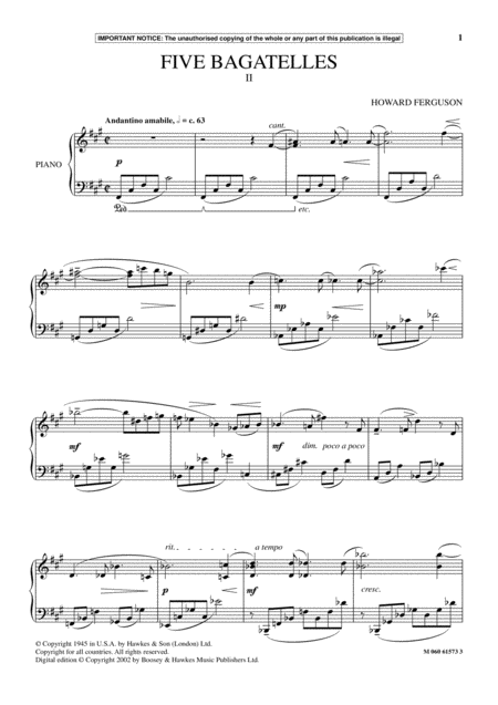 Five Bagatelles (II)