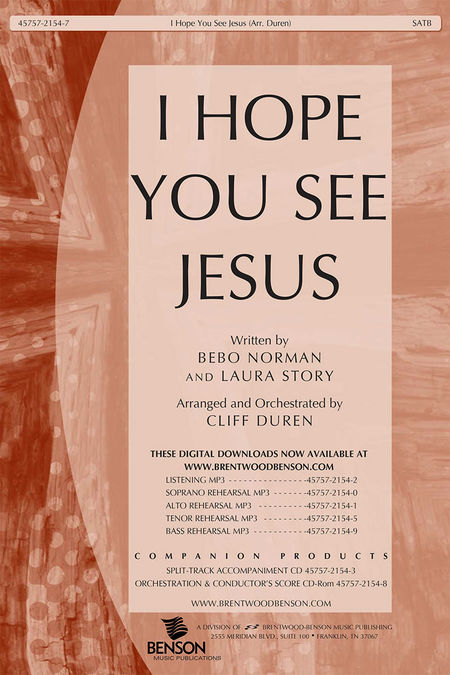 I Hope You See Jesus (Orchestra Parts and Conductor's Score, CD-ROM)