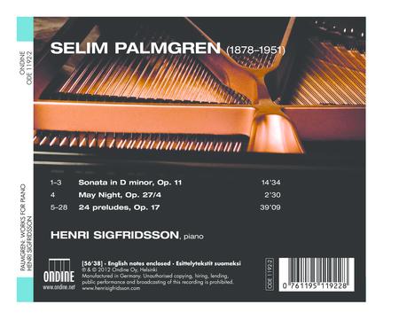 Palmgren Piano Works