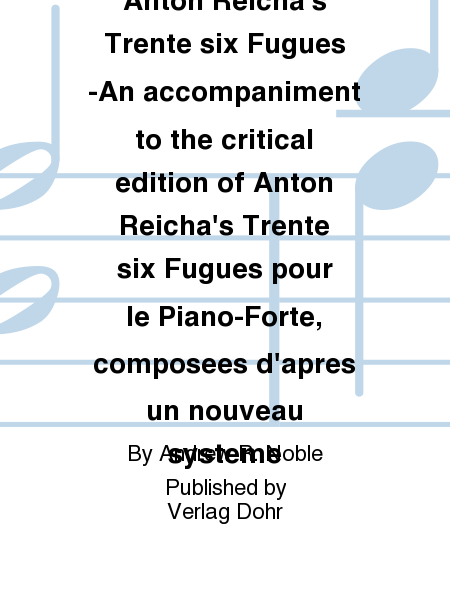The Subject in Anton Reicha's Trente six Fugues