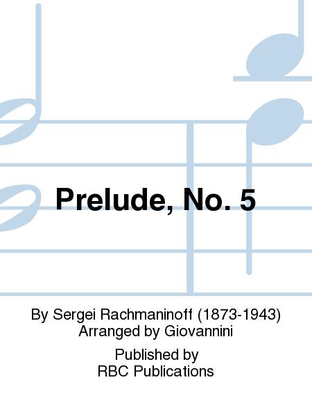Prelude, No. 5