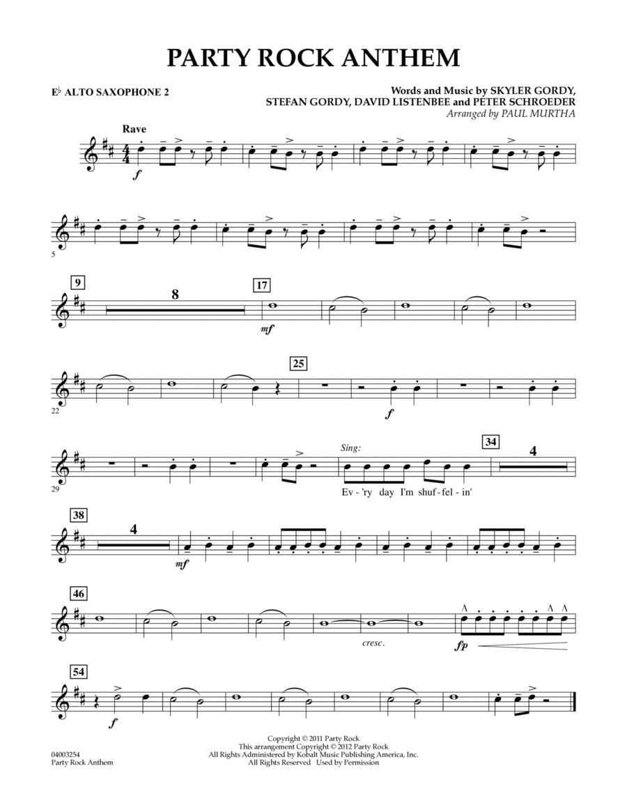 Party Rock Anthem - Eb Alto Saxophone 2