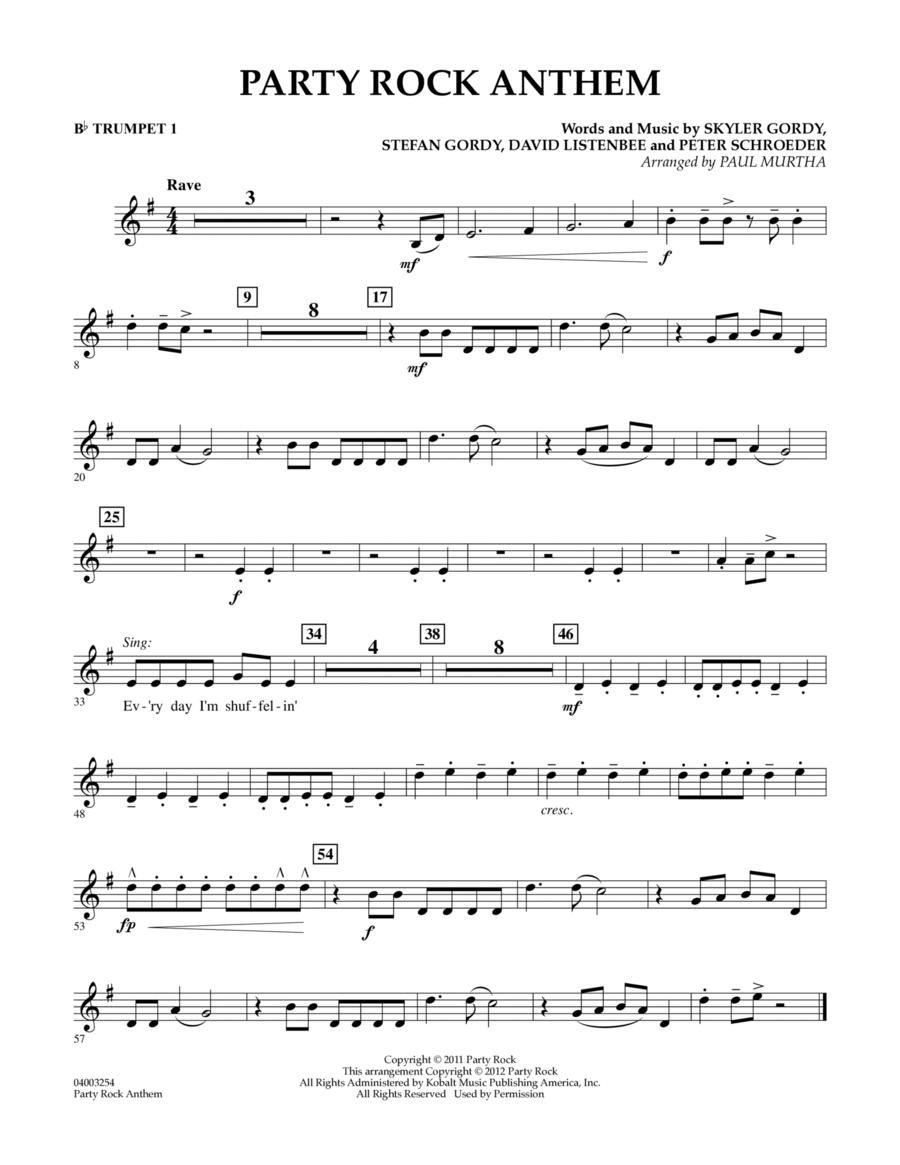 Party Rock Anthem - Bb Trumpet 1