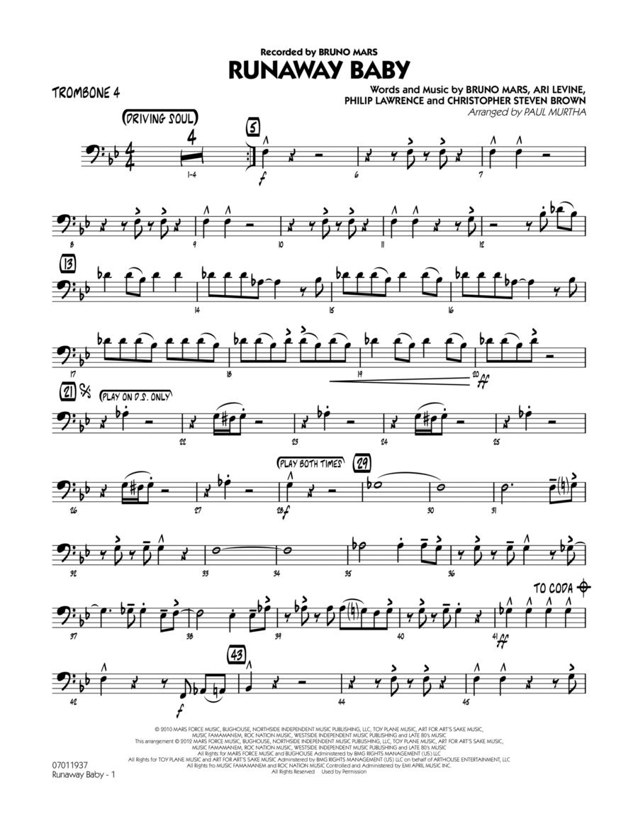 Runaway Baby - Trombone 4