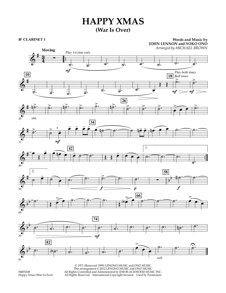 Happy Xmas (War Is Over) - Bb Clarinet 1