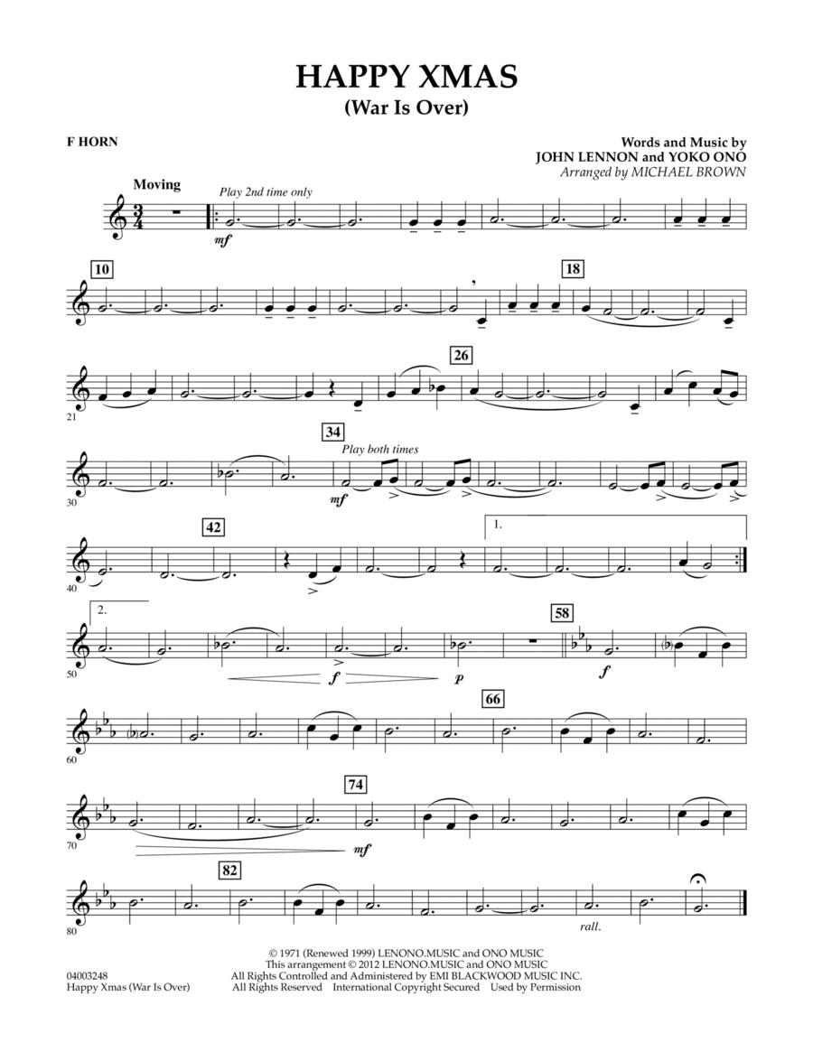 Happy Xmas (War Is Over) - F Horn