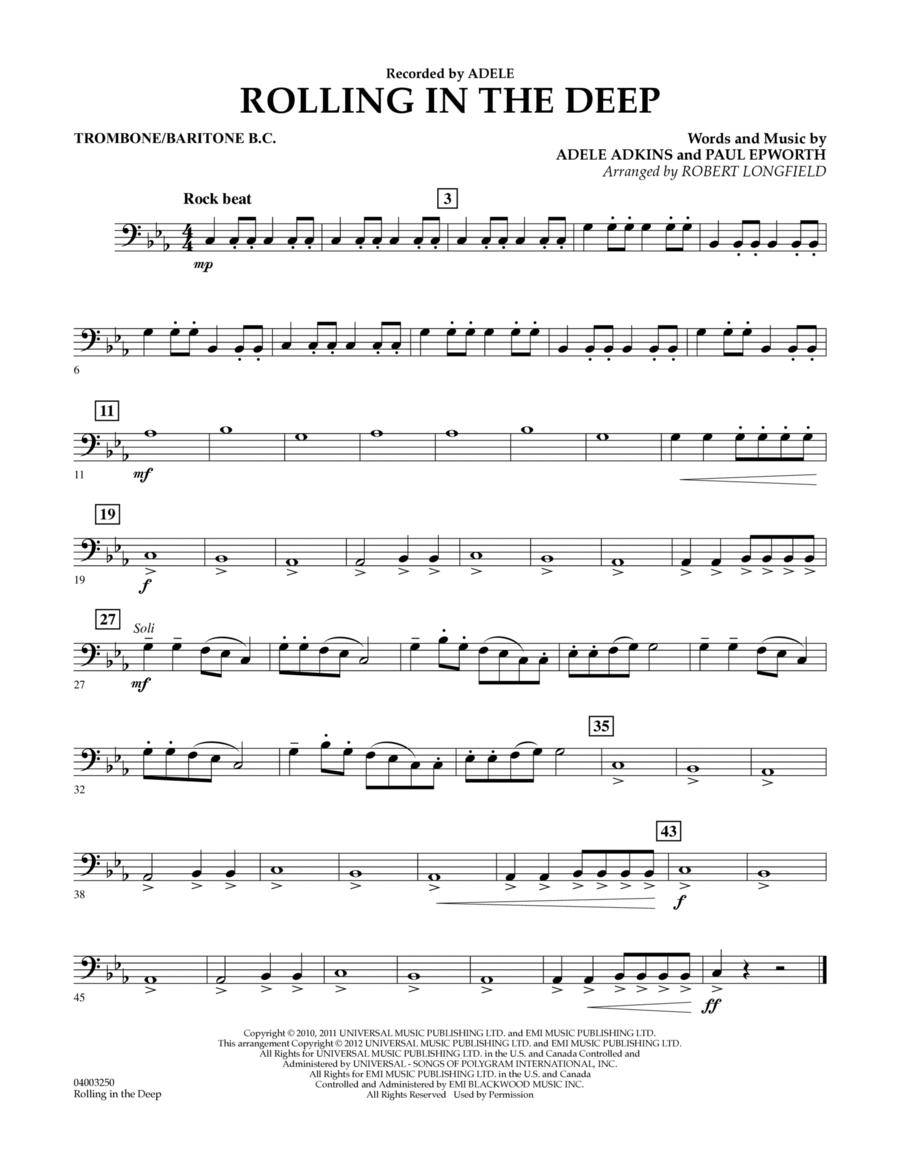 Rolling in the Deep - Trombone/Baritone B.C.