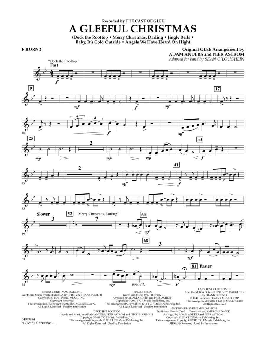A Gleeful Christmas - F Horn 2