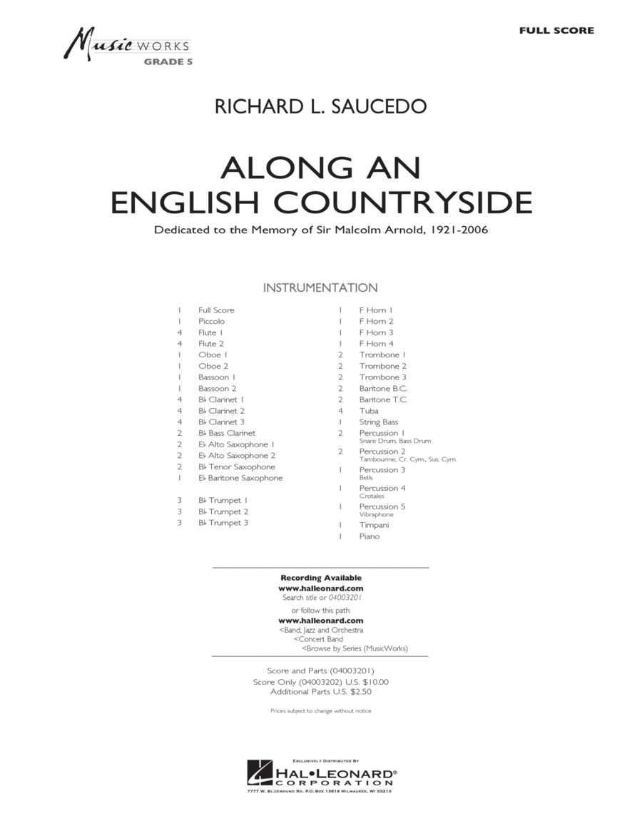 Along an English Countryside - Full Score
