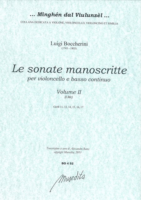 6 Cello Manuscript Sonatas (vol.II)(I-Mc)
