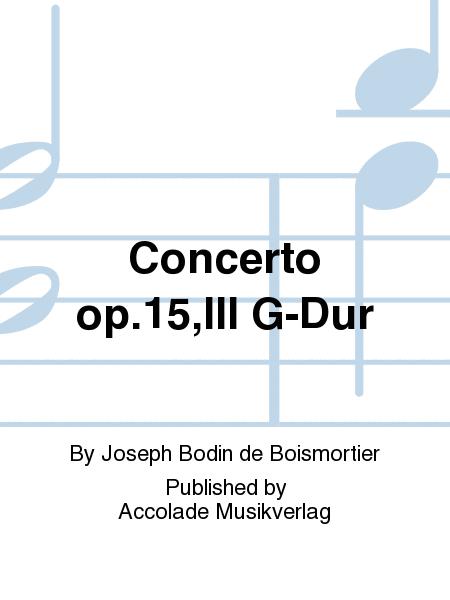 Concerto op.15,III G-Dur