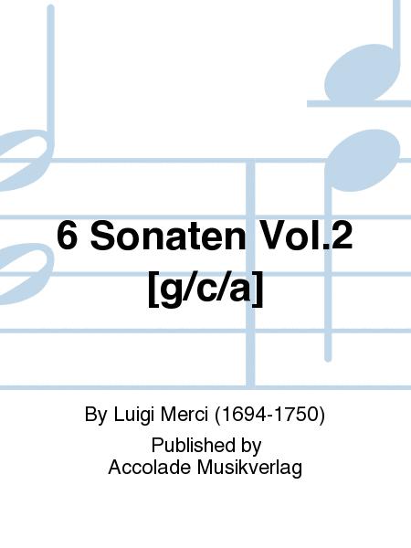 6 Sonaten Vol.2 [g/c/a]