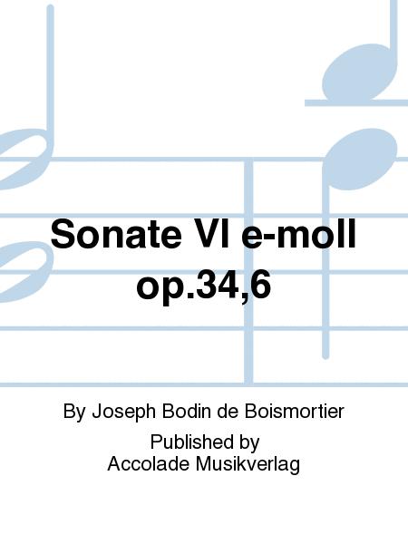 Sonate VI e-moll op.34,6