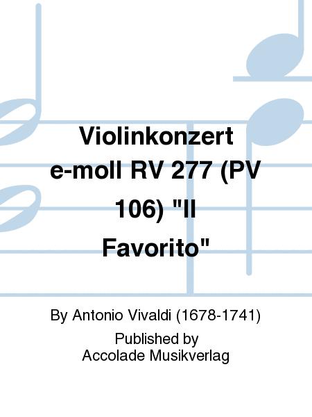 Violinkonzert e-moll RV 277 (PV 106)