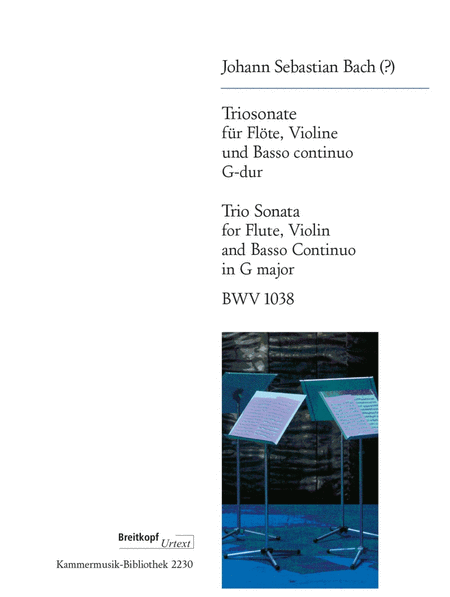 Triosonate fur Flote, Violine, Bc. BWV 1038
