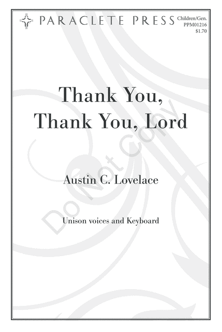 Thank You, Thank You, Lord