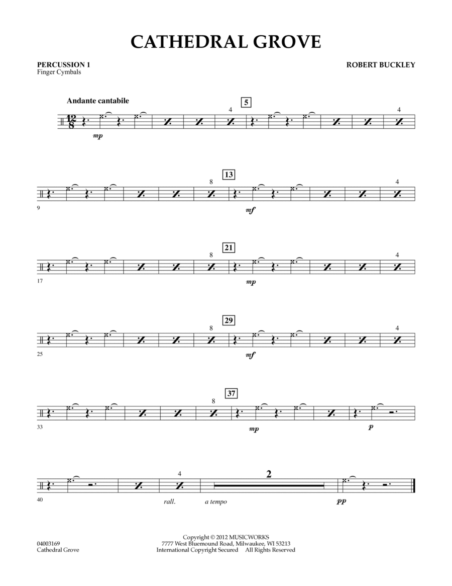 Cathedral Grove - Percussion 1