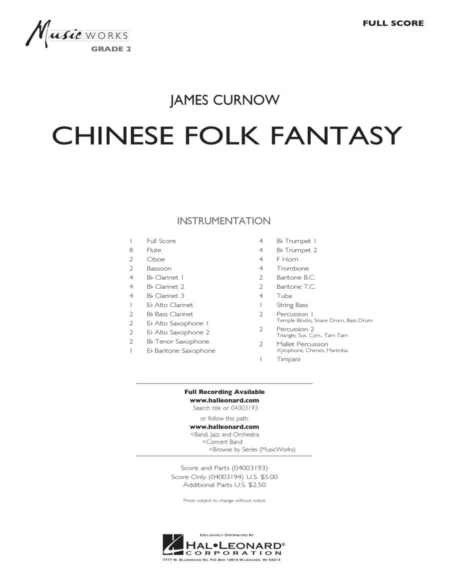 Chinese Folk Fantasy - Full Score