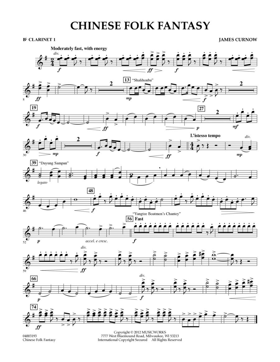 Chinese Folk Fantasy - Bb Clarinet 1