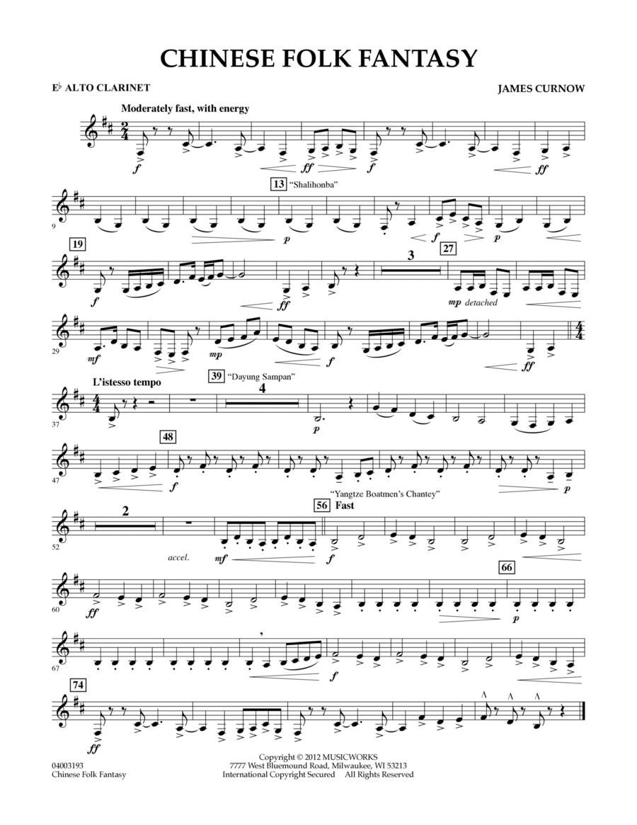 Chinese Folk Fantasy - Eb Alto Clarinet