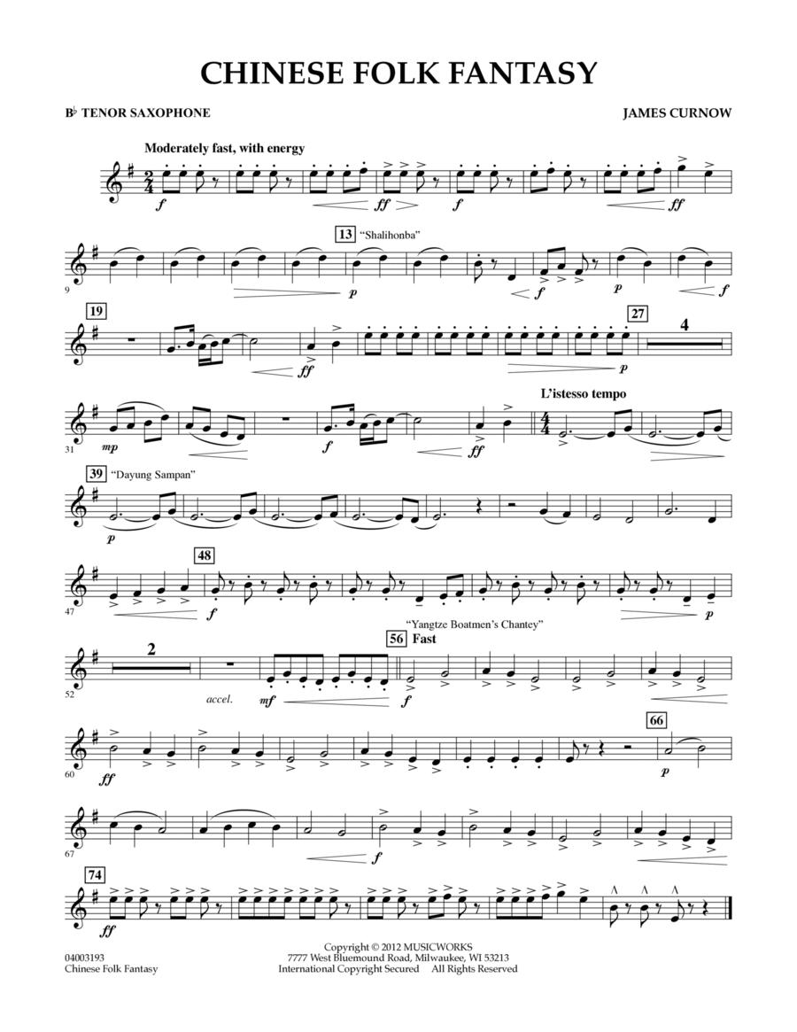 Chinese Folk Fantasy - Bb Tenor Saxophone