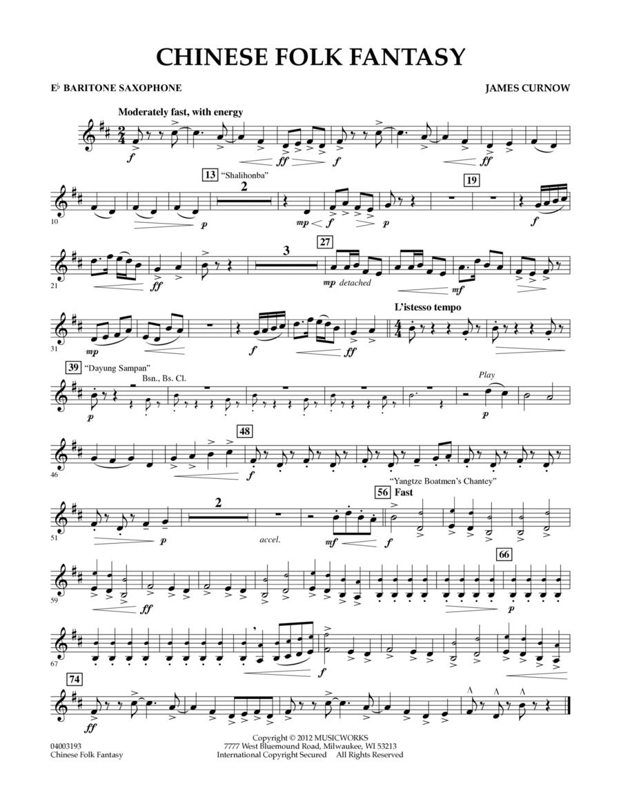Chinese Folk Fantasy - Eb Baritone Saxophone