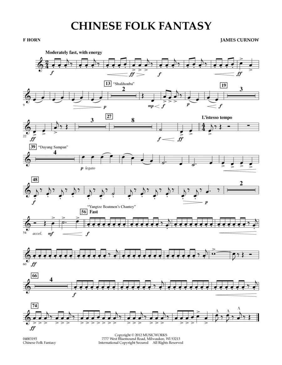 Chinese Folk Fantasy - F Horn