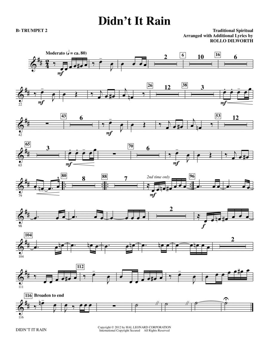 Didn't It Rain - Bb Trumpet 2
