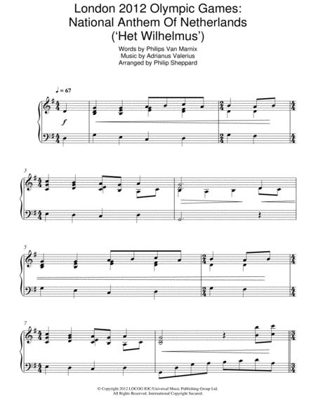 London 2012 Olympic Games: National Anthem Of Netherlands ('Het Wilhelmus')