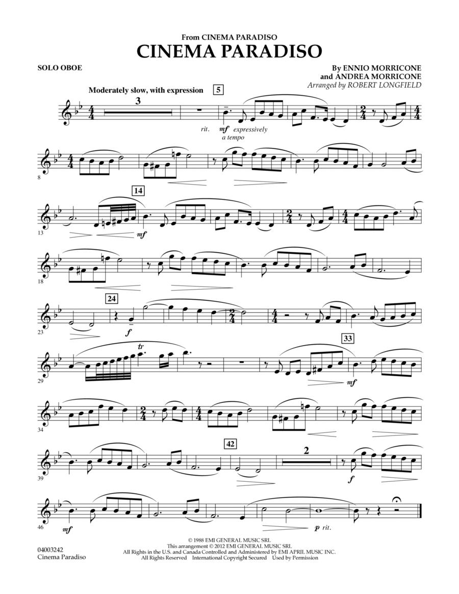 Cinema Paradiso (Flexible Solo with Band) - Oboe Solo