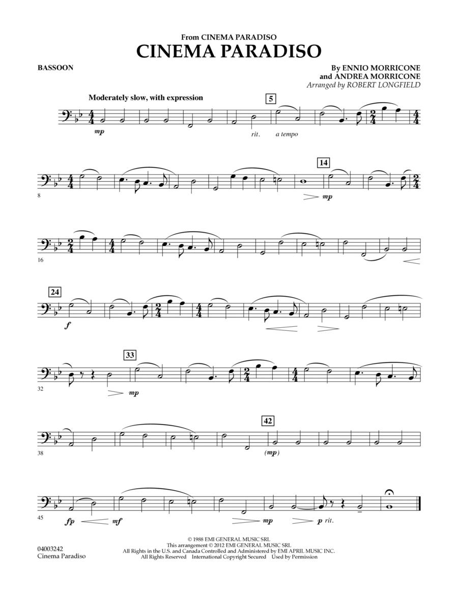 Cinema Paradiso (Flexible Solo with Band) - Bassoon