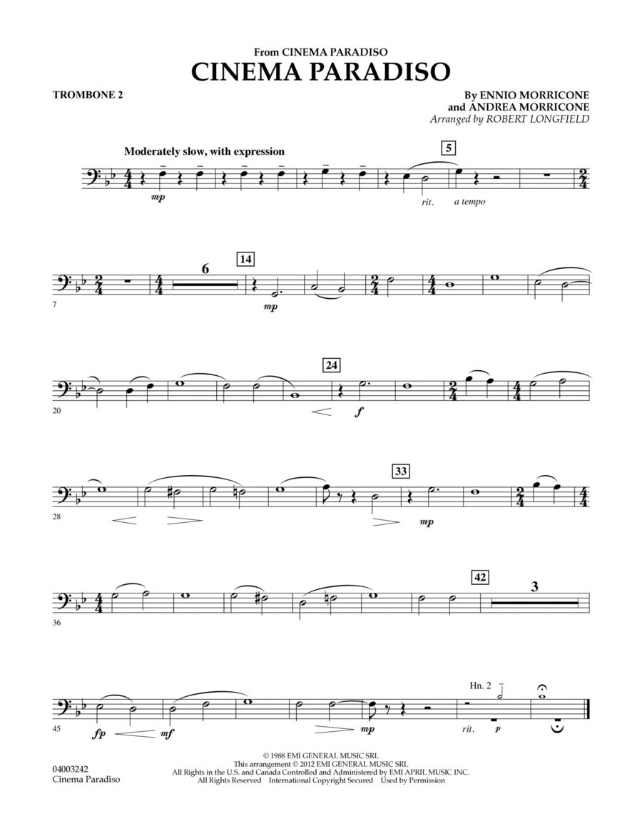 Cinema Paradiso (Flexible Solo with Band) - Trombone 2