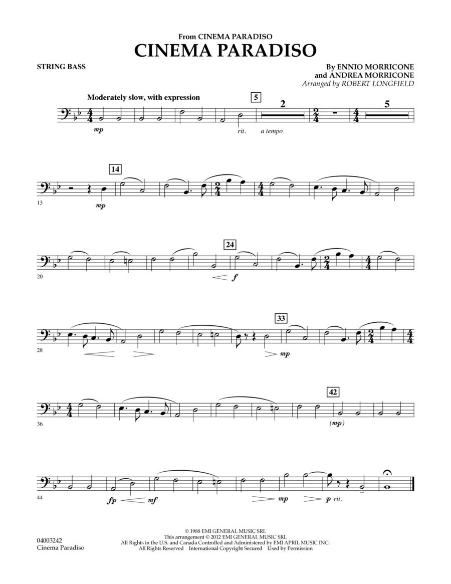 Cinema Paradiso (Flexible Solo with Band) - String Bass