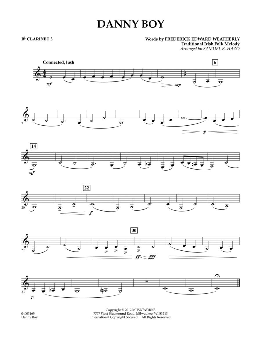 Danny Boy - Bb Clarinet 3
