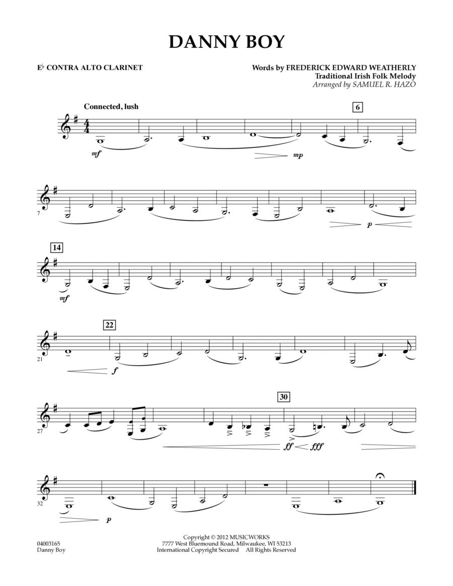 Danny Boy - Eb Contra Alto Clarinet