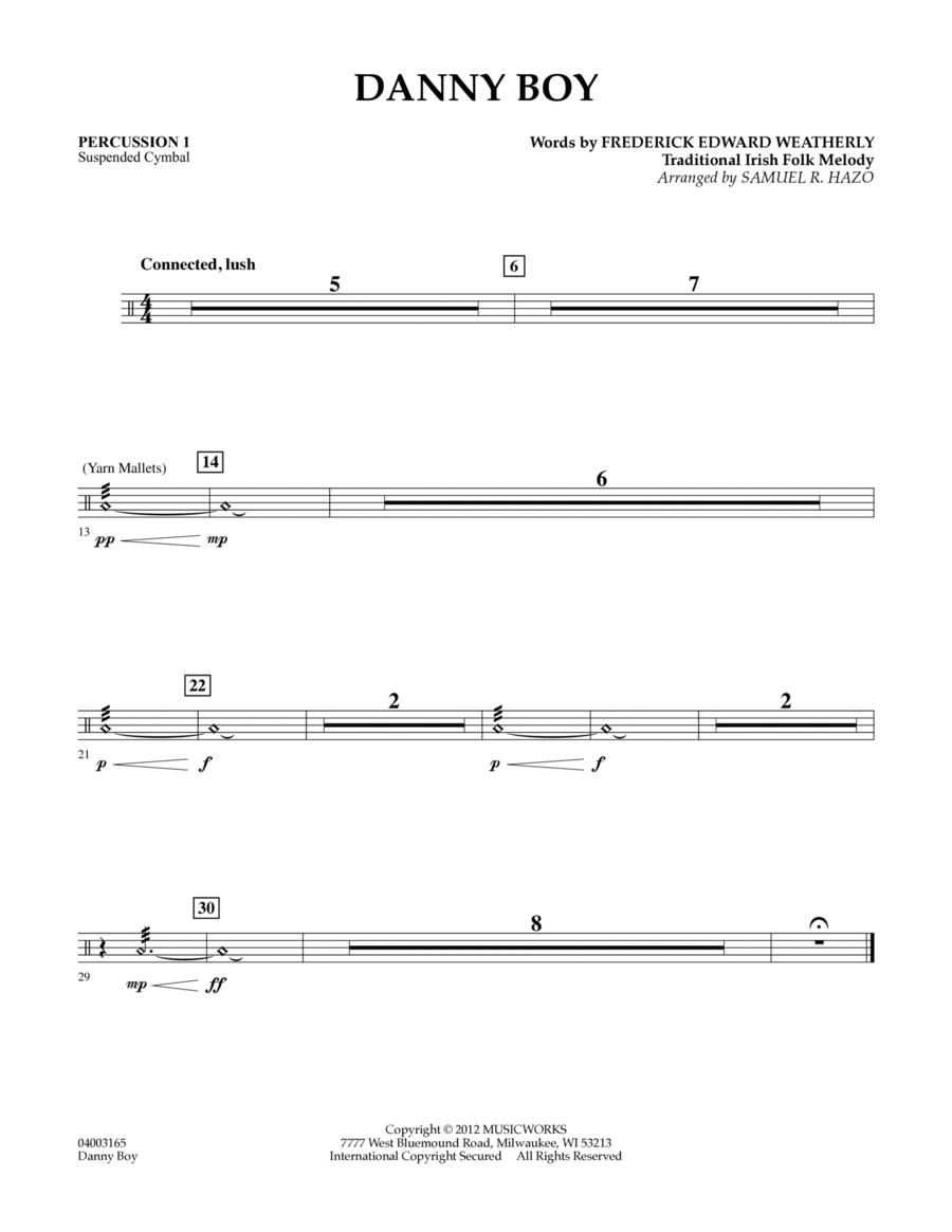 Danny Boy - Percussion 1