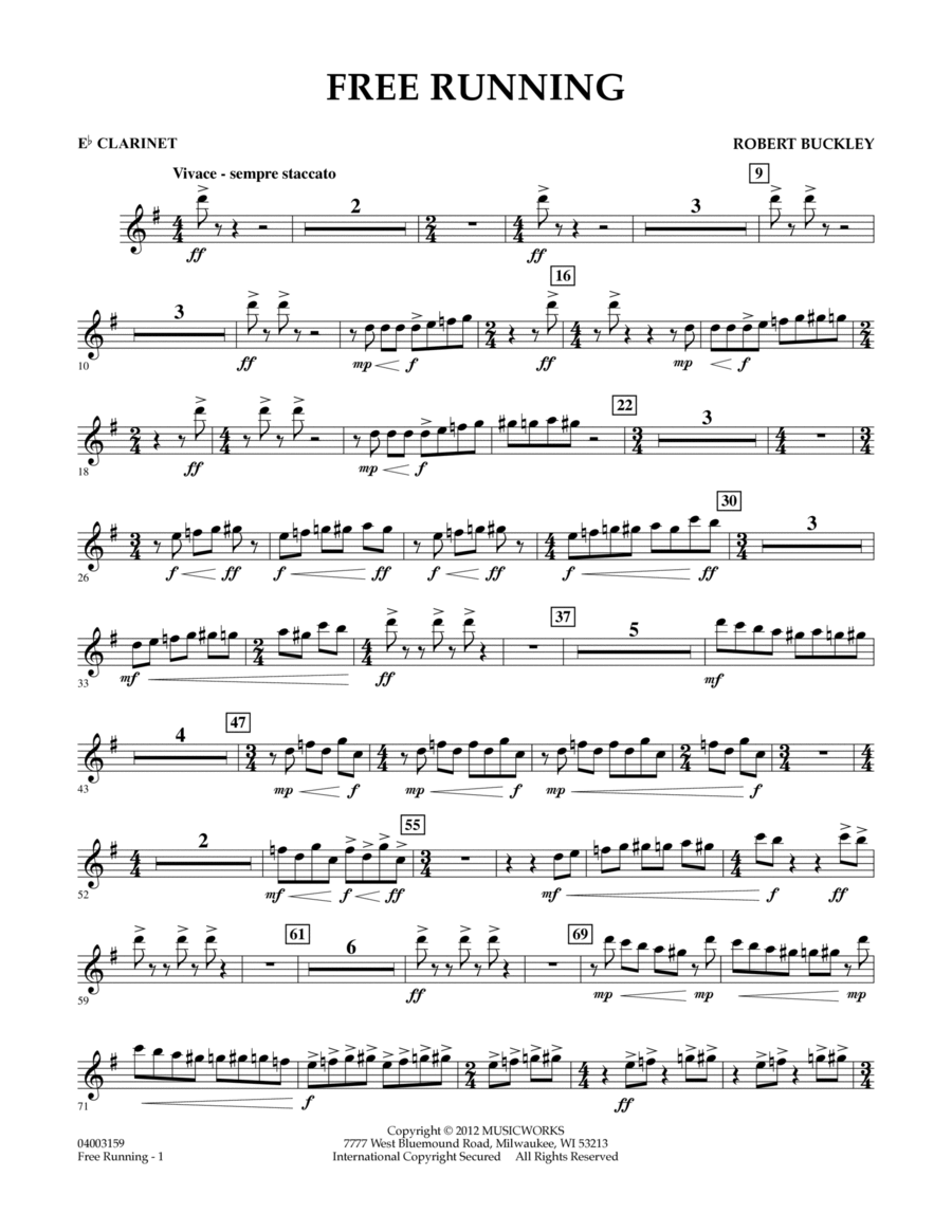 Free Running - Eb Clarinet
