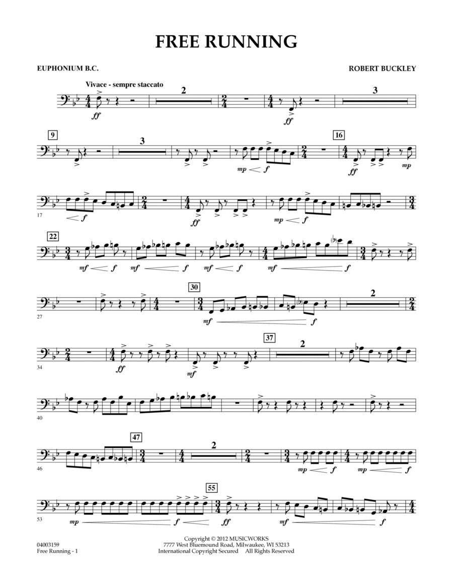 Free Running - Euphonium in Bass Clef