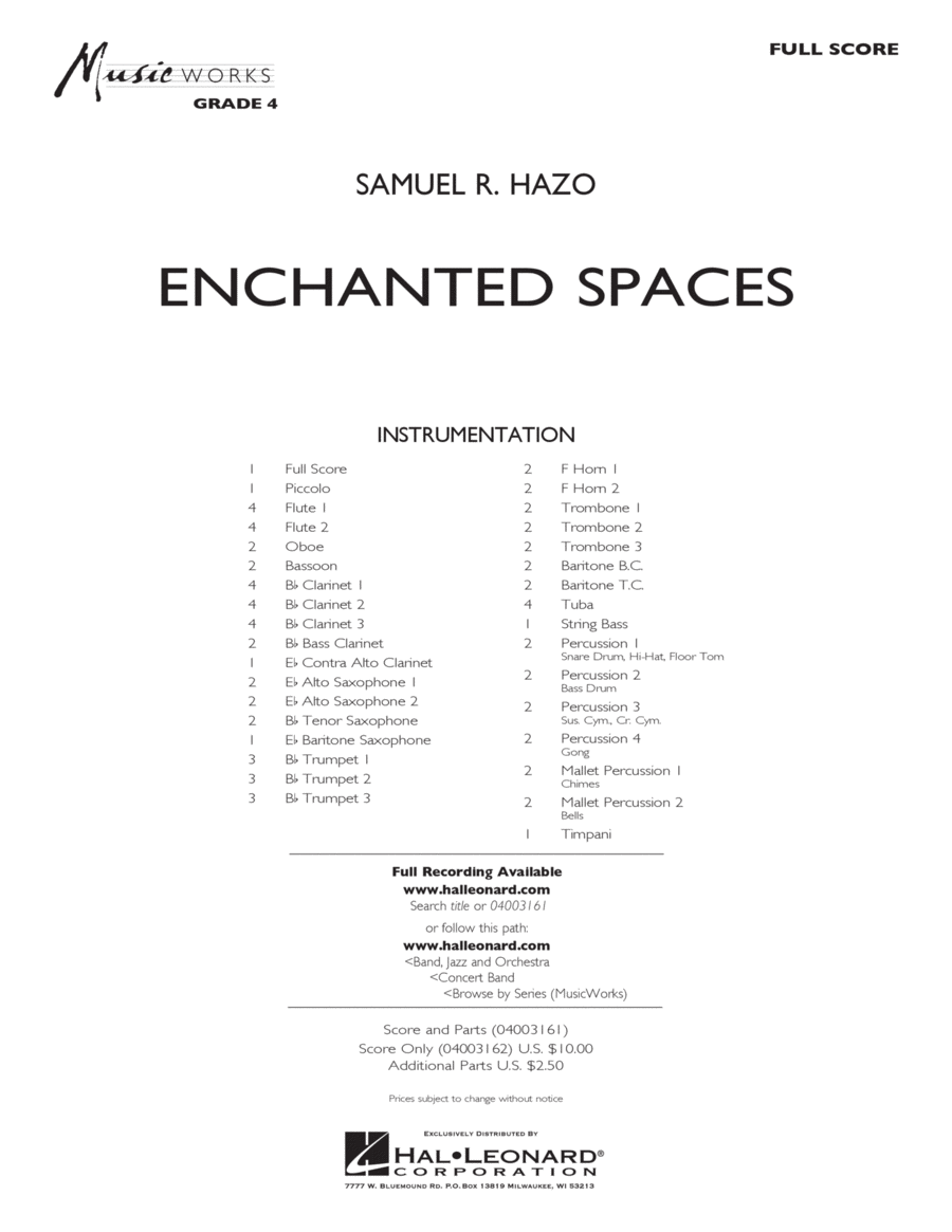 Enchanted Spaces - Full Score