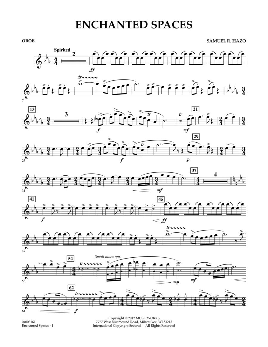 Enchanted Spaces - Oboe