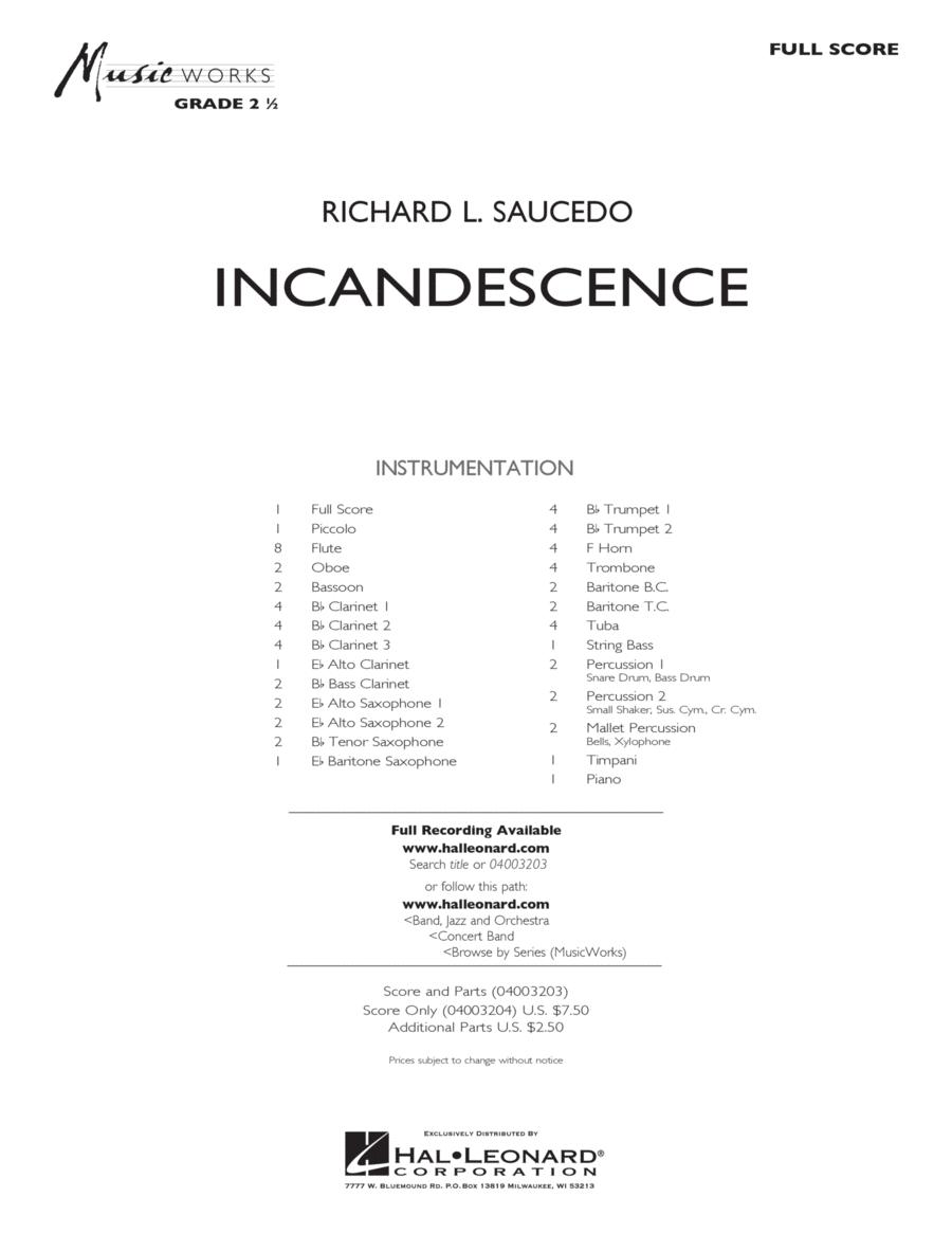 Incandescence - Full Score