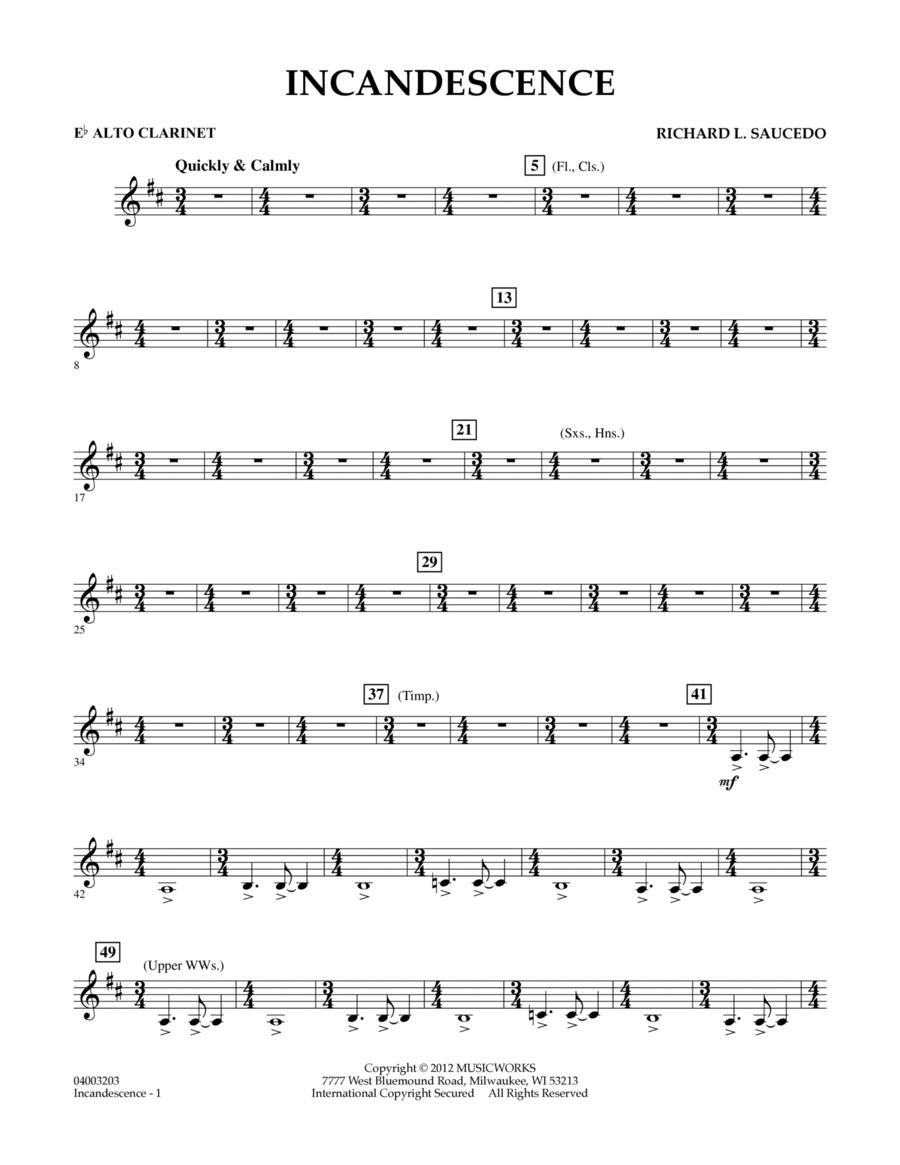 Incandescence - Eb Alto Clarinet